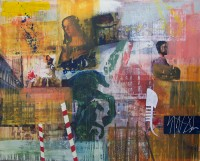 Venice Landscape (Commission), Encaustic on canvas, 100 x 120 cms NFS
