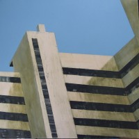 Embassy Court V, Encauastic on Canvas, 100 x 100 cms, £1000