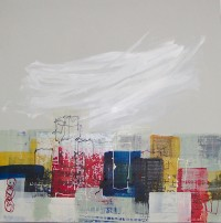 Urban Sky, Encauastic on Canvas, 80 x 80 cms, £650