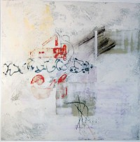 Untitled, Encaustic on Canvas, 60 x 60 cms, £400