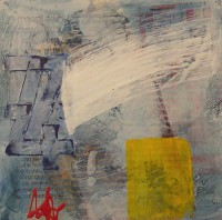Untitled, ref 130508, Encaustic on Canvas, 30 x 30 cms, £90