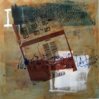 Untitled, ref 090508, Encaustic on Canvas, 60 x 60 cms, £400