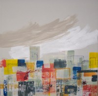 Summer City, Encaustic on Canvas, 120 x 120 cms, £1500