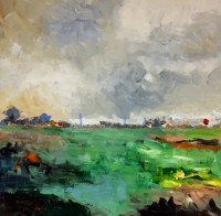 Norfolk Series No 1, Acrylic on Canvas, 50 x 50 cms