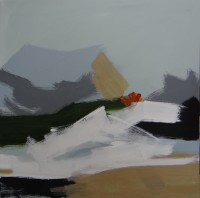 Mountain Series No 2, Acrylic on Canvas, 70 x 70 cms