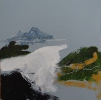 Mountain Series No 5, Acrylic on Canvas, 50 x 50 cms