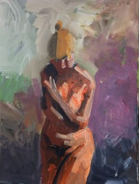Standing Figure 1, Acrylic on Canvas, 40 x 30 cms
